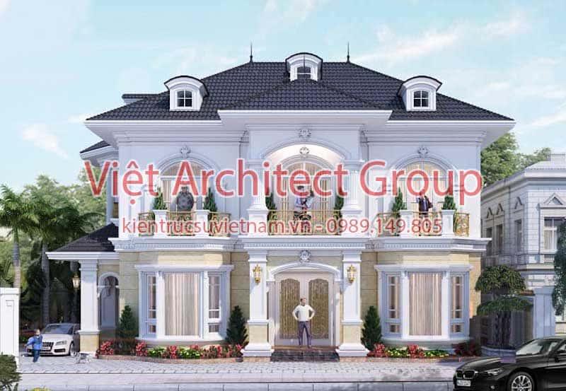 biet thu co dien dep 5 - 15 mẫu thiết kế biệt thự tân cổ điển đẹp tham khảo xây năm 2019