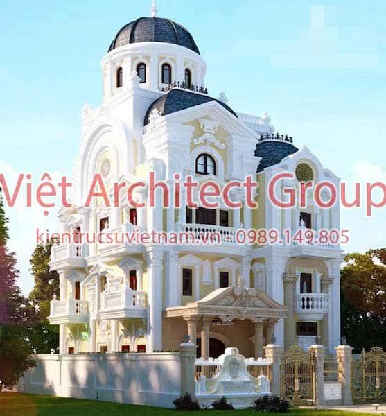biet thu co dien dep 9 - Biệt thự tân cổ điển với diện tích 150m2 với kinh phí từ 2.2 tỷ có 5 phòng ngủ