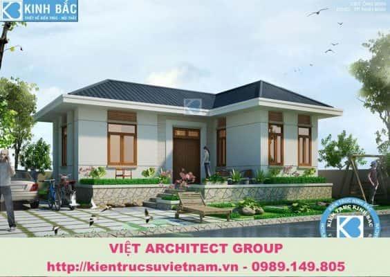 biet thu dep 1 tang 564x400 - Ảnh công trình thiết kế biệt thự 1 tầng đẹp