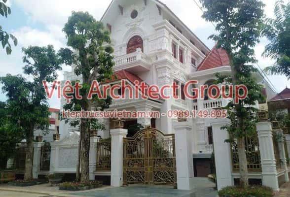 biet thu dep viet architect group 2 588x400 - Ảnh công trình thiết kế biệt thự tân cổ điển đẹp