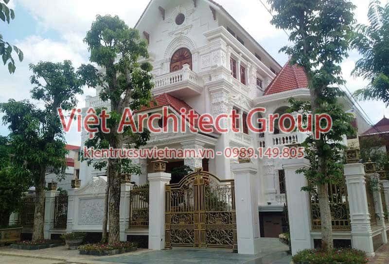biet thu dep viet architect group 2 - 15 mẫu thiết kế biệt thự tân cổ điển đẹp tham khảo xây năm 2019
