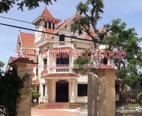 biet thu dep viet architect group ms001 489x400 - Ảnh công trình thiết kế biệt cổ điển đẹp