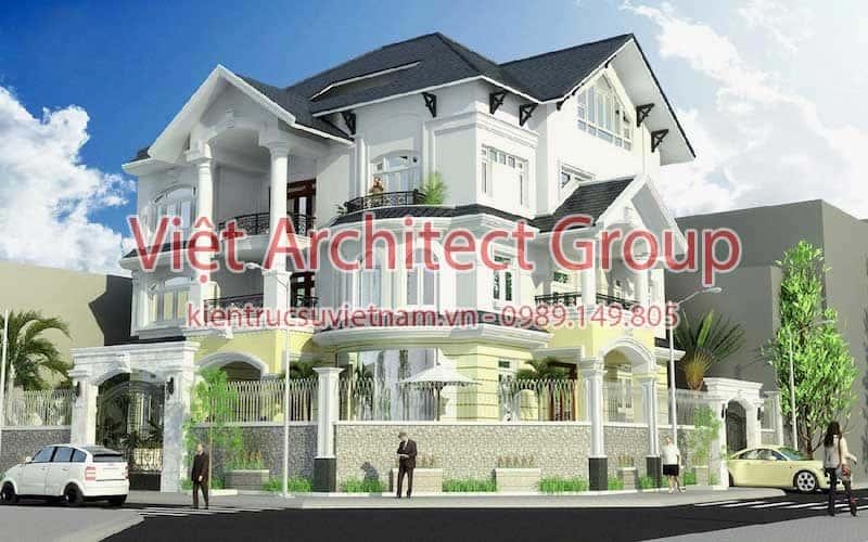 biet thu dep viet architect group ms0011 - 15 mẫu thiết kế biệt thự tân cổ điển đẹp tham khảo xây năm 2019