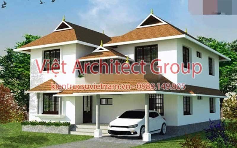 biet thu dep viet architect group ms005 - Công trình biệt thự 2 tầng kiến trúc mái thái đẹp