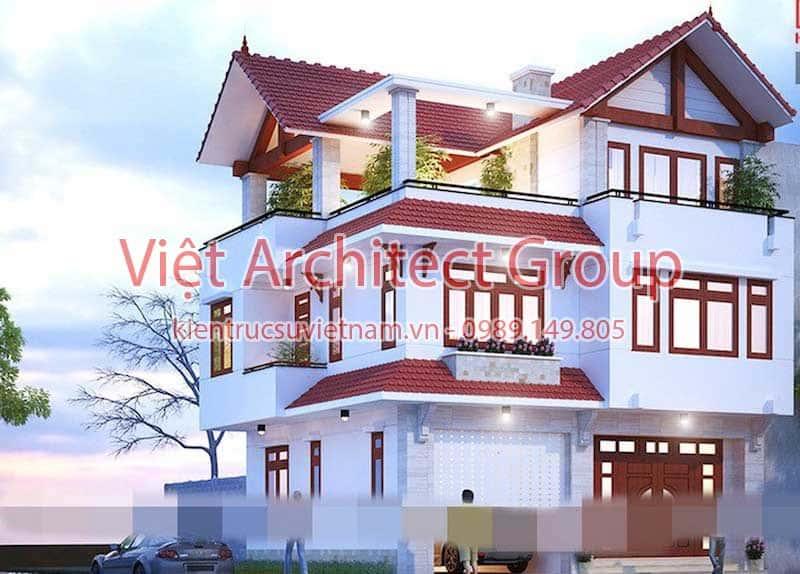 biet thu dep viet architect group ms006 - 15 mẫu thiết kế biệt thự tân cổ điển đẹp tham khảo xây năm 2019