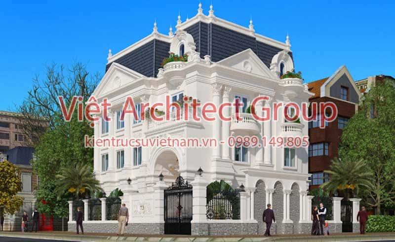 biet thu dep viet architect group ms008 - Thiết kế biệt thự châu âu đẹp