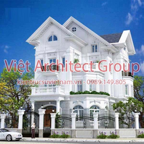 biet thu dep viet architect group ms009 - 15 mẫu thiết kế biệt thự tân cổ điển đẹp tham khảo xây năm 2019