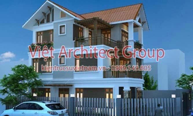 biet thu dep viet architect group ms1002 667x400 - Ảnh công trình thiết kế biệt thự 3 tầng đẹp