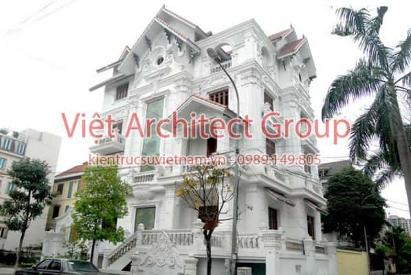 biet thu dep viet architect group ms1003 598x400 - Ảnh công trình thiết kế biệt thự tân cổ điển đẹp