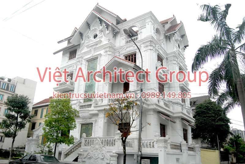 biet thu dep viet architect group ms1003 - Thiết kế biệt thự cổ điển đẹp
