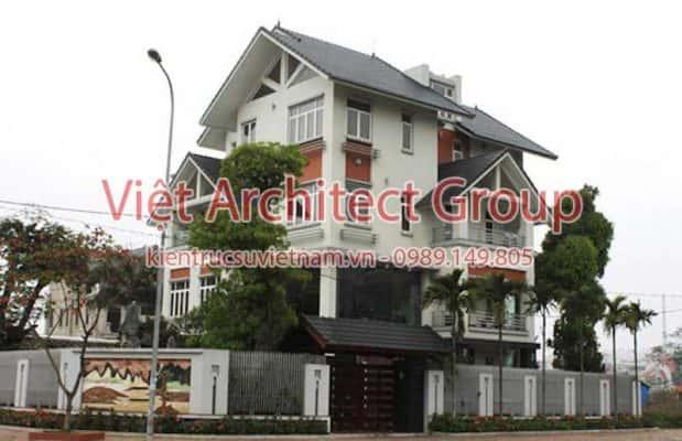 biet thu dep viet architect group ms1005 619x400 - Ảnh công trình thiết kế biệt thự 3 tầng đẹp