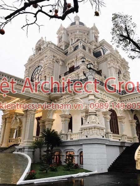 biet thu lau dai - Công trình biệt thự lâu đài cổ điển 3 tầng sang trọng đẳng cấp