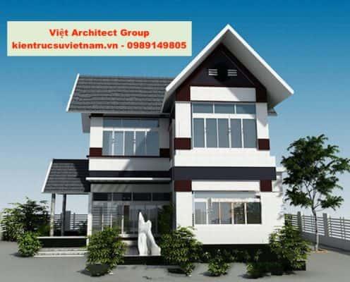 biet thu mini dep 05 496x400 - Ảnh công trình thiết kế biệt thự hiện đại đẹp