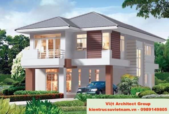 biet thu mini dep 06 593x400 - Ảnh công trình thiết kế biệt thự 2 tầng đẹp