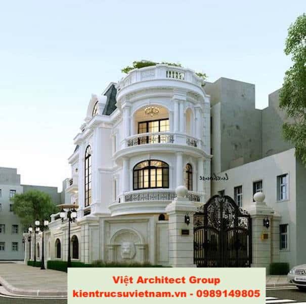 biet thu tan co dien 3 - Bộ sưu tập mẫu thiết kế biệt thự phố đẹp và sang trọng