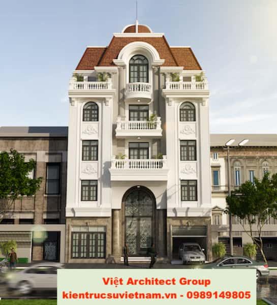 biet thu tan co dien 4 tang 1 - Bộ sưu tập mẫu thiết kế biệt thự phố đẹp và sang trọng