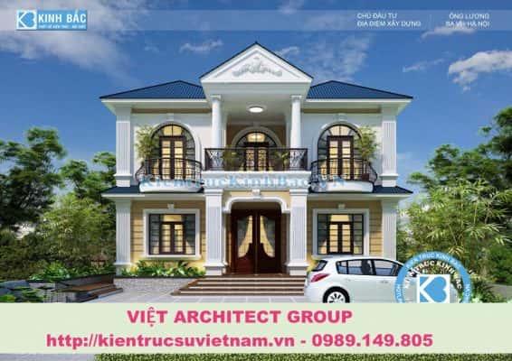biet thu tan co dien dep 1 566x400 - Ảnh công trình thiết kế biệt thự 2 tầng đẹp