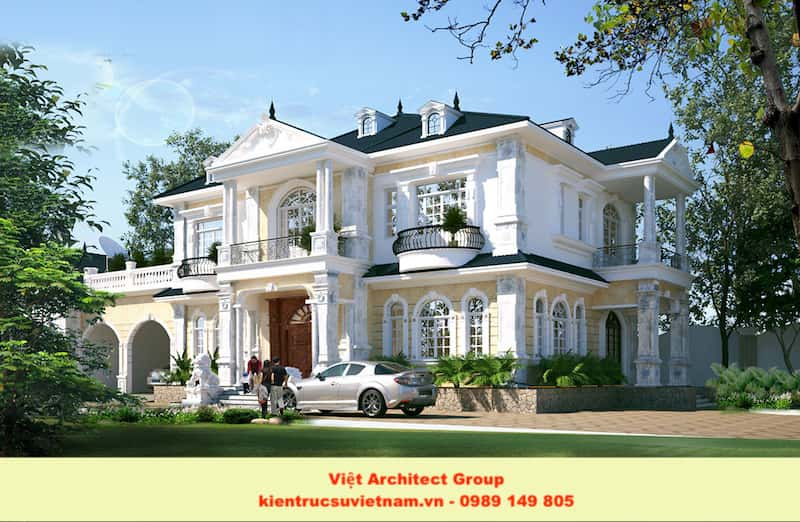 biet thu vuon dep viet architect group 1 - Công trình biệt thự 2 tầng mái thái đẹp với kinh phí 1 tỷ
