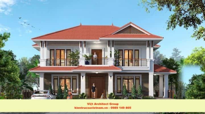 biet thu vuon dep viet architect group 721x400 - Ảnh công trình thiết kế biệt thự 2 tầng đẹp
