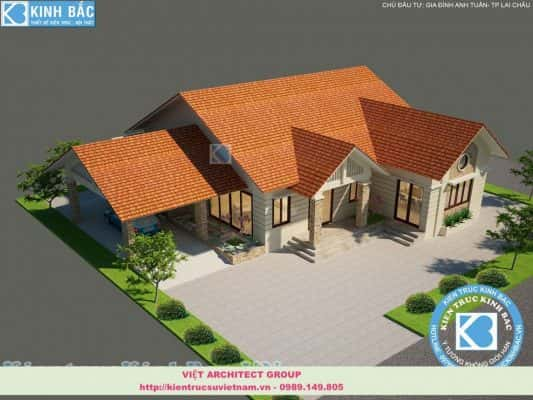 thiet ke biet thu 1 tang 533x400 - Tham khảo 45 thiết kế miễn phí mẫu biệt thự vườn 3 phòng ngủ đẹp
