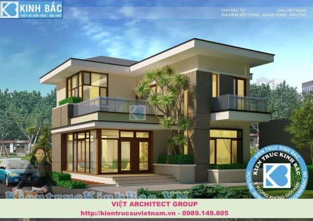 thiet ke biet thu dep viet architect group e1573379765609 - Thiết kế biệt thự 2 tầng