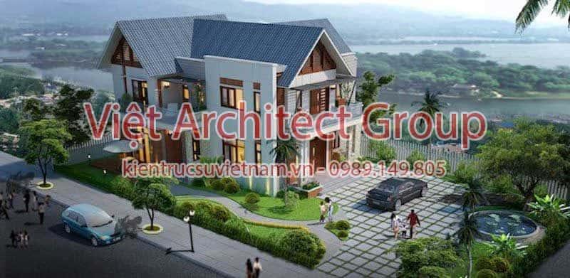 thiet ke biet thu viet architect group 800x391 - Ảnh công trình thiết kế biệt thự 2 tầng đẹp