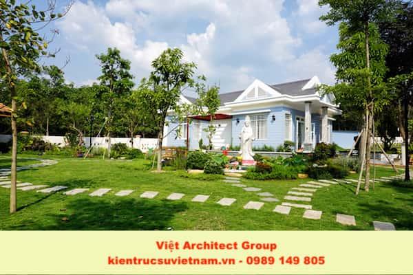 thiet ke biet thu vuon dep 7 - Xây biệt thự sân vườn 450m đẹp với kiến trúc hiện đại