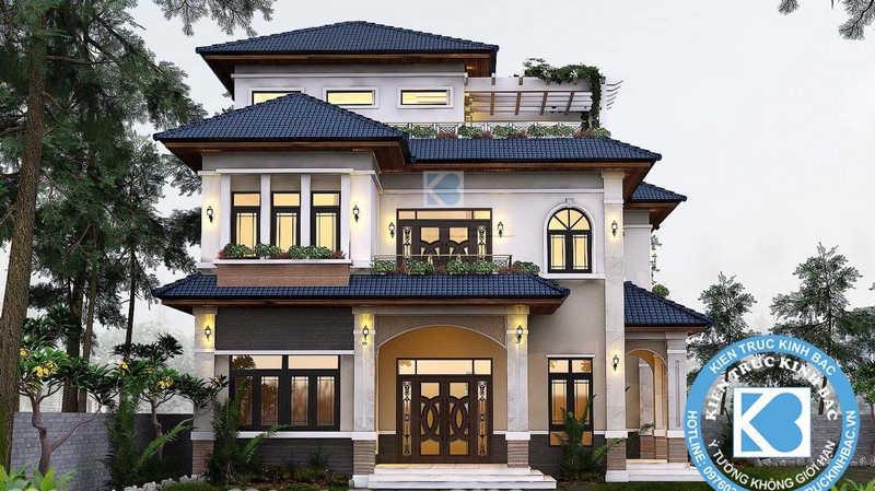 thiet ke biet thu - Thiết kế biệt thự 3 tầng đẹp
