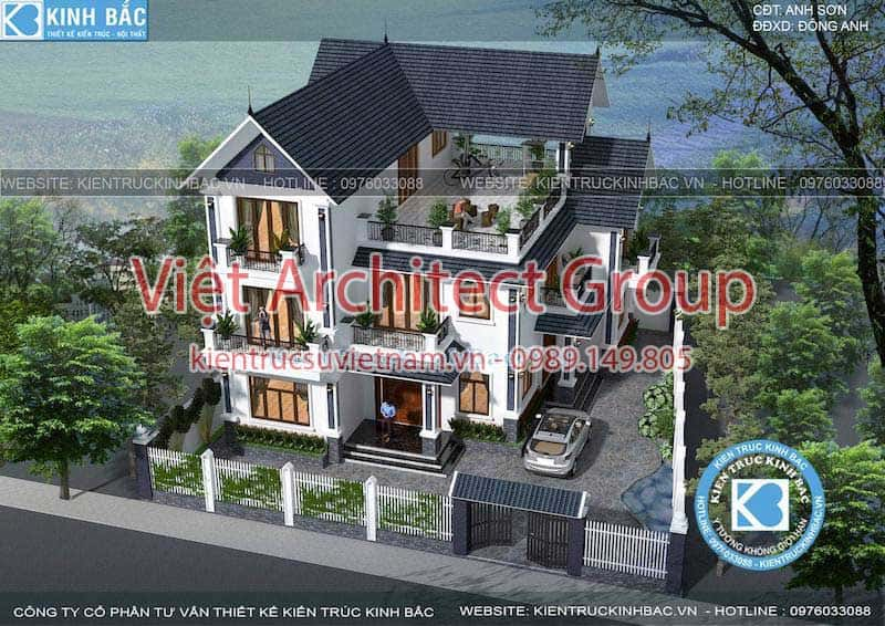 biet thu tan co dien dep ms 004 - 10 Mẫu thiết kế biệt thự kiến trúc mái thái đẹp đẳng cấp