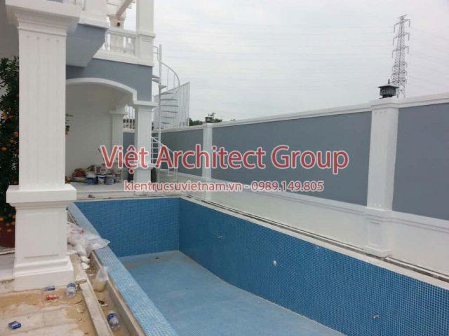ho boi mini biet thu e1594117252719 - Thiết kế biệt thự 2 tầng có hồ bơi mini - Chi phí xây dựng phần nhà chính có 1.2 tỷ.