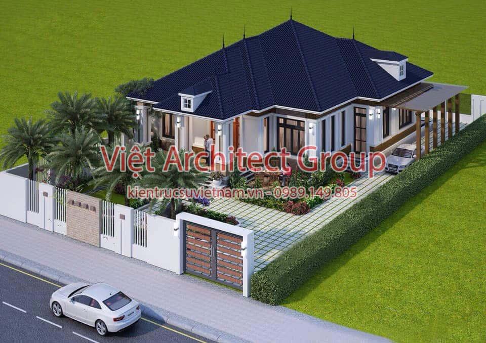 biet thu 1 tang mai thai - Những lưu ý khi thiết kế mái tôn cho ngôi nhà mới