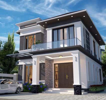 biet thu 2 tang hien dai 001 1 423x400 - Công trình biệt thự 2 tầng kiến trúc thiết kế hiện đại đẹp