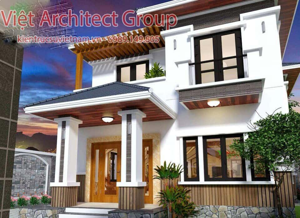 biet thu 2 tang hien dai mai thai 2 - Biệt thự hiện đại 2 tầng 11 x 13,5m2 Nghi Lộc - Nghệ An
