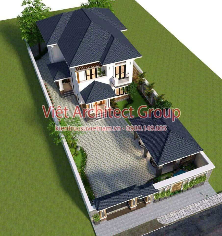 biet thu 2 tang hien dai mai thai 3 - Biệt thự hiện đại 2 tầng 11 x 13,5m2 Nghi Lộc - Nghệ An