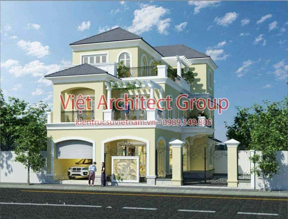 biet thu dep 001 - Các dự án thiết kế nhà biệt thự có gara ô tô đẹp đã thực hiện