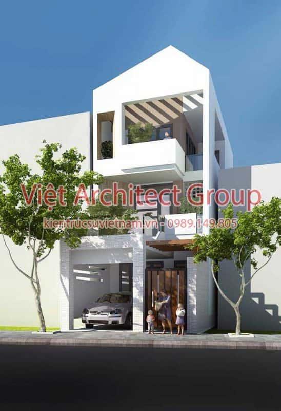 mau nha pho dep 548x800 - Mẫu thiết kế nhà phố 3 tầng hiện đại mặt tiền 3.5m đẹp