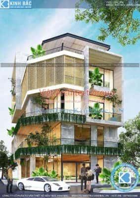 biet thu lo goc pho 5 tang dep 283x400 - Dịch vụ Xây nhà trọn gói ở Ninh Bình