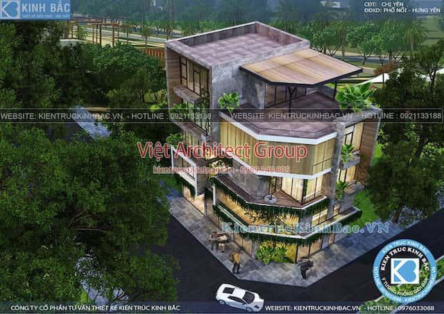 biet thu lo goc pho 5 tang dep 3 - Thiết kế nhà lô góc phố 2 mặt tiền đẹp