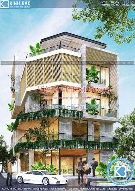 biet thu lo goc pho 5 tang dep - Thiết kế biệt thự hiện đại