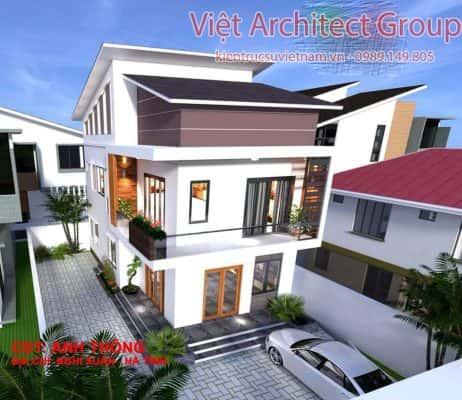 nha pho 2 tang mat tien 7m ms002 462x400 - Báo giá thiết kế: Nhà, biệt thự, nội thất