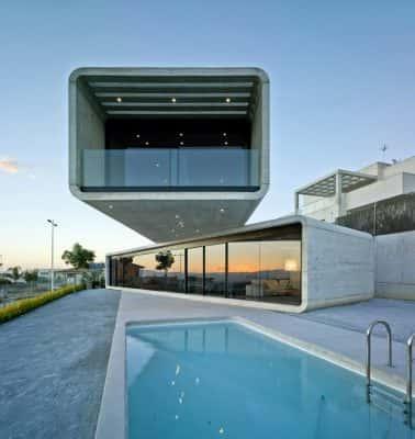 01 Casa Cruzada 378x400 - 9 Mẫu thiết kế biệt thự hiện đại được nhiều lượt thích
