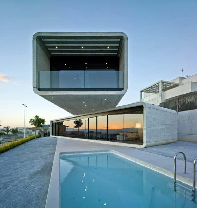 01 Casa Cruzada 756x800 - 9 Mẫu thiết kế biệt thự hiện đại được nhiều lượt thích