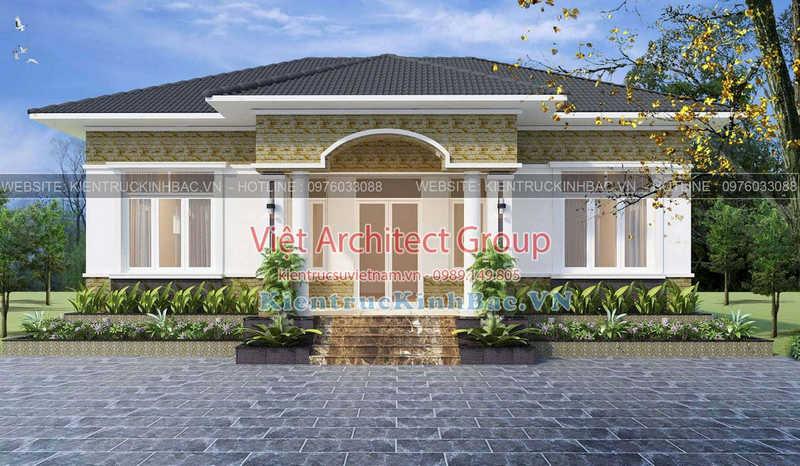 biet thu 1 tang 040519 1 e1586328820593 - Thiết kế nhà 1 tầng đẹp