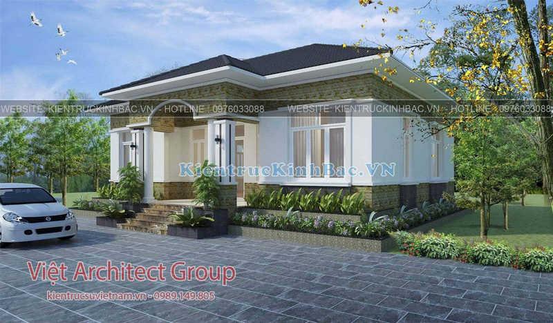 biet thu 1 tang 040519 2 e1586328799552 - Thiết kế nhà 1 tầng đẹp