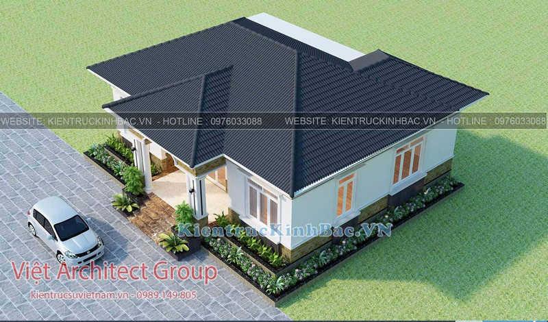 biet thu 1 tang 040519 3 e1586328779993 - Thiết kế nhà 1 tầng đẹp