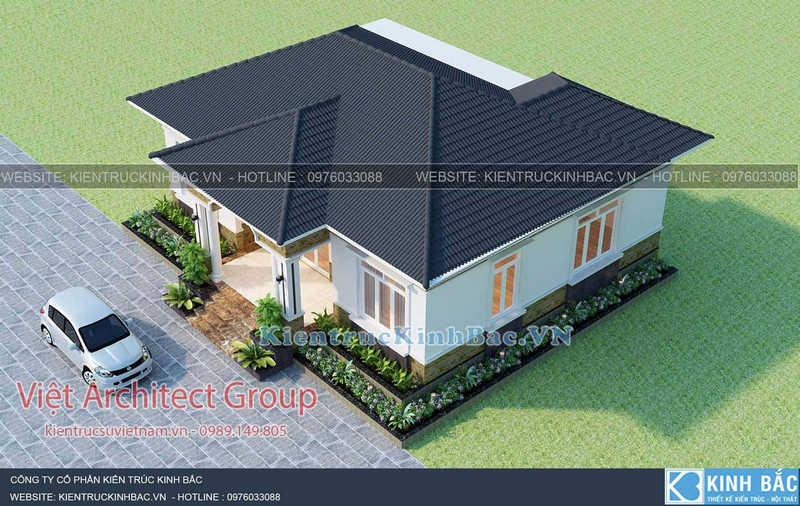 biet thu 1 tang 040519 3 - Thiết kế nhà 1 tầng đẹp