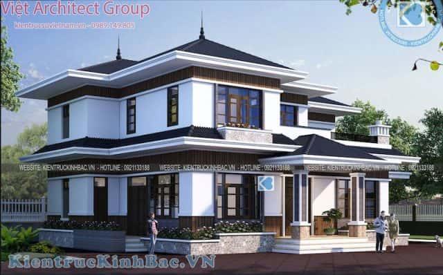biet thu 2 tang 040519 2 e1573379665781 - Thiết kế biệt thự 2 tầng