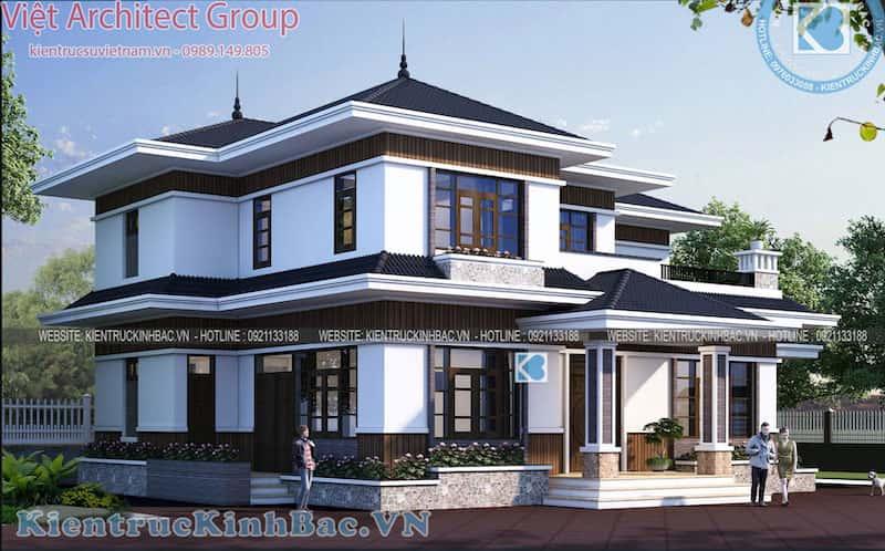biet thu 2 tang 040519 2 - Khái niệm và các phong cách trong kiến trúc biệt thự