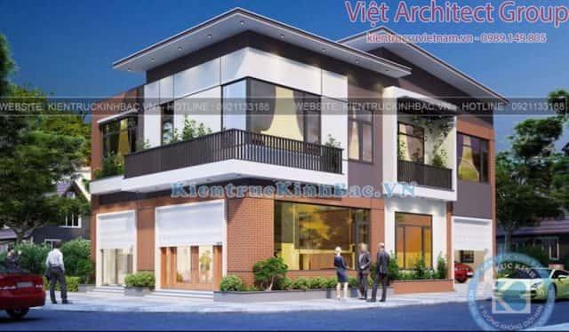 biet thu 2 tang hien dai ms4509 1 e1573379695319 - Công trình biệt thự 2 tầng hiện đại TP Lai Châu