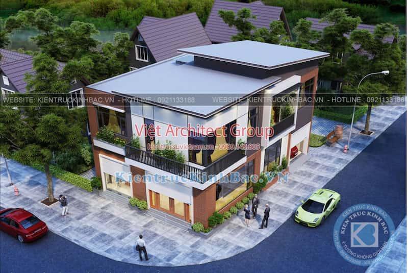biet thu 2 tang hien dai ms4509 2 - Công trình biệt thự 2 tầng hiện đại TP Lai Châu